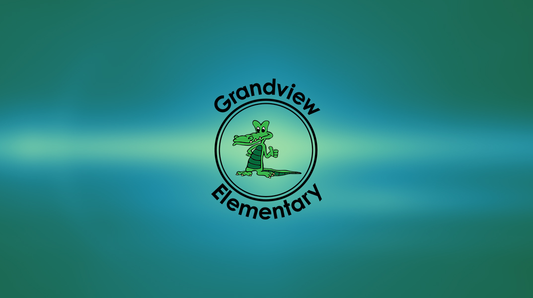 Abstract background with Grandview logo